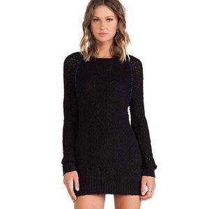 Blank NCY by Revolve Sweater Dress Top in Twizzle black blue Large